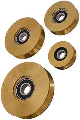 Rueda de puerta de alta resistencia, en 10 tamaños, puerta corredera, puerta corredera: Amazon.es: Bricolaje y herramientas