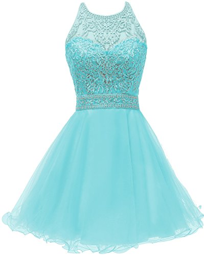 Yucou Girl's Beautiful Pageant Dresses Beaded Lace Puffy