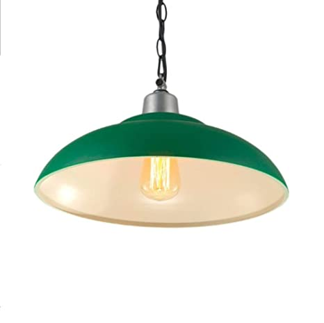 online retailer f66d5 0b51d Asvert Metal Pendant Light Industrial Retro Lighting Large Green Lampshade  Ceiling Pendant Lamp Decorative Light Fixtures for Living Room Kitchen ...