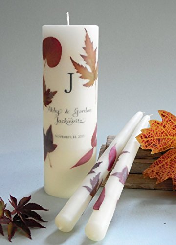 (Autumn Leaf Wedding Unity Candles)