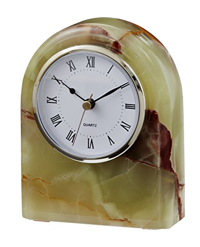 Designs by Marble Crafters CL40-ON Green Onyx Desk Clock