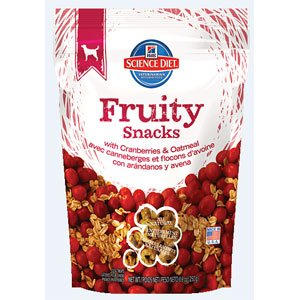 Hill's Science Diet Fruity Snacks with Cranberry & Oatmeal Dog Treats -8oz(pack of 2)