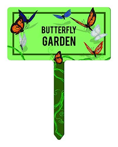 ThisWear Master Gardener Gifts Garden Butterfly Decor Butterfly Garden Stakes 1-Pack Rectangle Garden Sign