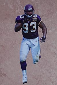 "John Randle Mini Fathead Minnesota Vikings NFL Official Vinyl Wall Graphic 7"" INCH"