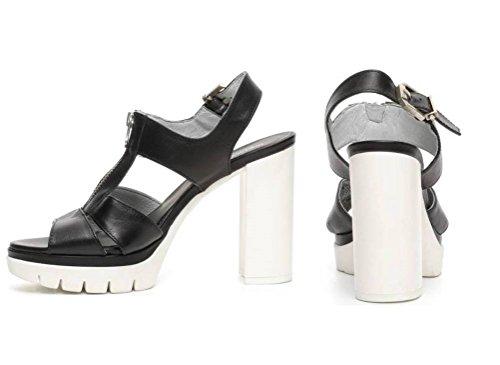 Piel Giardini Nero Vestir Para De Sandalias Negro Mujer 6I6xFwpq