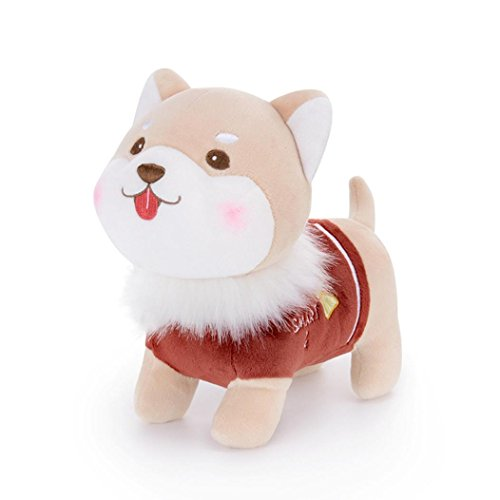 Gbell Child Kids Toddler Fluffy Stuffed Plush Puppy Animal Doll Toys  Brown