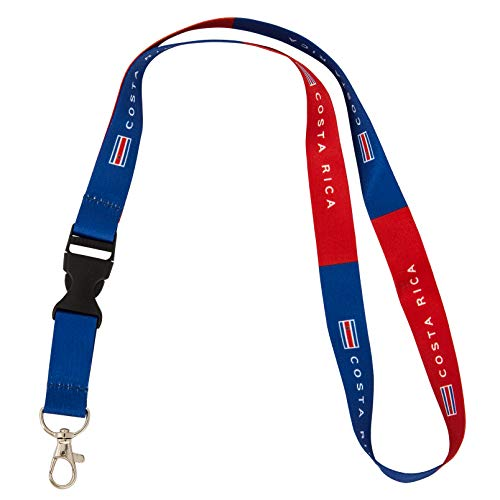 Country of Costa Rica Flag Lanyard for Keys Keychain Souvenir (Lanyard)