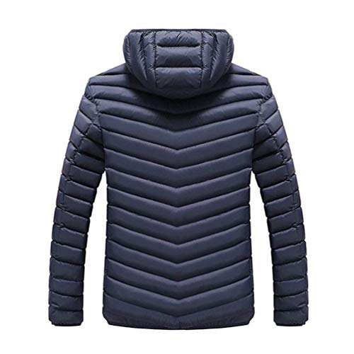 Thicken Windproof Men's Down Winter Jacket Clásico Cotton Coat Laisla Quilted Saphir Detachable Boy Warm Quilted Jackets Soft Puffer Autumn Blau Waterproof Padded Men's fashion Hood Ntel 5nqAAaO