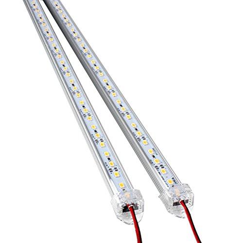 ROSENICE 2pcs DC 12V 50CM Aluminium Rigid LED Strip Bar Light Without Power Supply(White) Rigid Supply