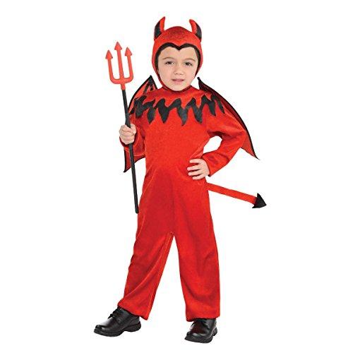 Children's Devil Boy Costume Size Small (4-6)