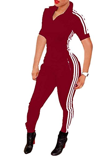 Bodycon4U Women Lycra Spandex Zentai Long Sleeve Unitard Bodysuit Jumpsuit (S, Classic Red)