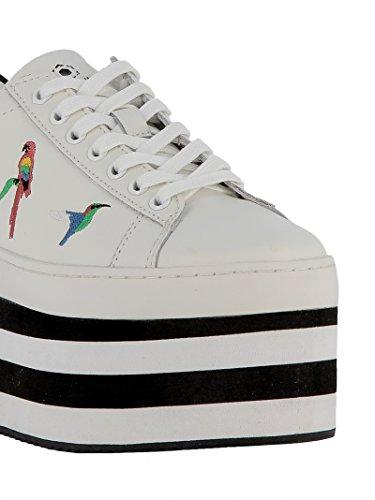 Moa Ladies M756 Weiss Sneakers In Pelle