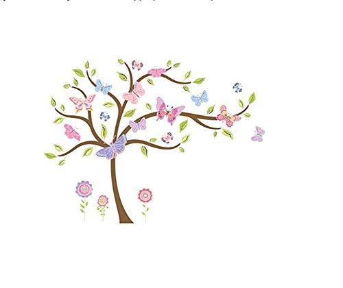 - Happi by Dena Butterfly Garden Wall Appliques, Pink/Purple