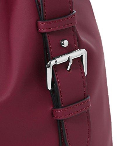 Armani Jeans Mujeres bandolera de cuero del faux Rojo Rojo