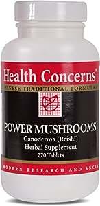 Health Concerns - Power Mushrooms - Ganoderma (Reishi) Herbal Supplement- 270 Tablets
