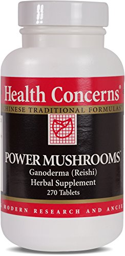Health Concerns - Power Mushrooms - Ganoderma (Reishi) Herbal Supplement- 270 Tablets by Health Concerns