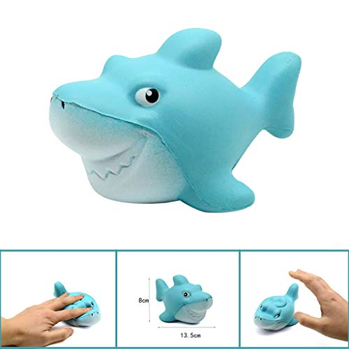 Insaneness Baby Toddler Toys Shark Stress Reliever Scented Super Slow Rising Kids Toy Squeeze Toys (Blue) -
