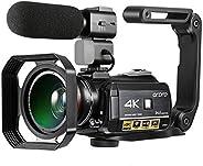 Andoer AC3 4K WiFi Câmera de Vídeo Digital Filmadora Gravador DV 24MP 30X Zoom IR Visão Noturna 3,1 polegadas