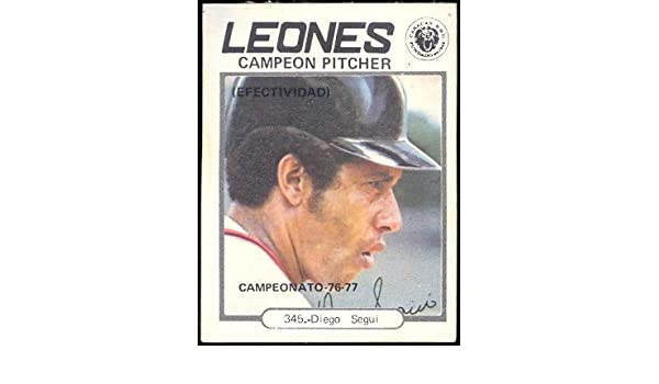 Amazon.com: 1977 Topps Venezuelan (Baseball) card#345 Diego ...