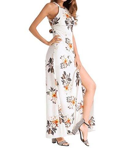 Vestido Estilo Boho Niñas Vestido Sexy Irregular 2018 Vestido de XIAOXIAO Color Las Halter Femenino XXL Blanco Verano Nuevo Primavera tamaño 6PvnwAXqB