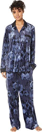 Pajama Dkny Top (DKNY Women's A Notch Above Long Pajama Set, Caspian Print, Medium)