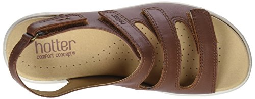 Brown Women's Open Dk Tan Toe Hotter Sandals Sophia qXZAnwXad