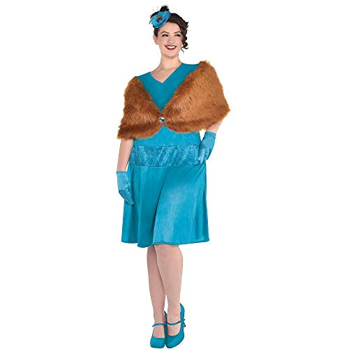 Blues Clues Couple Costume (Party City Clue Mrs. Peacock Costume for Adults, Plus Size, Includes a Dress, a Shawl, a Feather Fascinator, and)