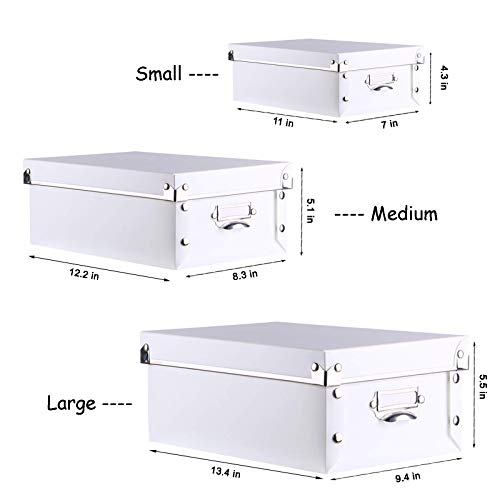 SEEKIND Office Storage Boxes with Lid, Water-Proof Storage Bins for Toys,Shoes,Clothes,Office.