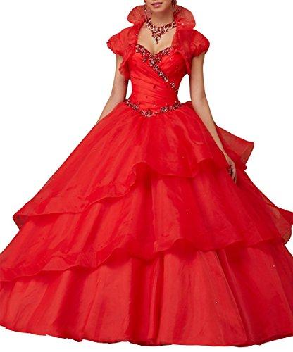 Bridal Senza maniche Abito Rosso Donna da a Mall sposa ad linea rpwZ0rq8Hx