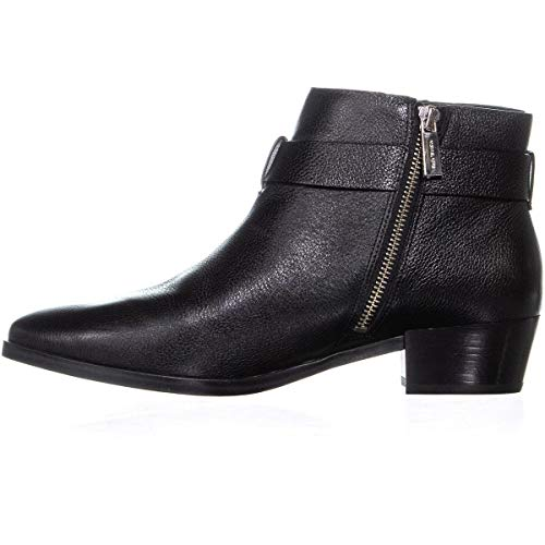 Michael Michael Kors Womens Harland Bootie Leather Almond Toe, Black, Size 8.5