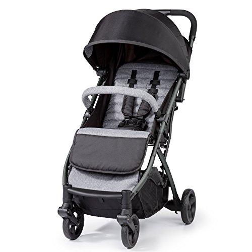 Summer Infant 3DPac Stroller, Lightweight and Compact Carseat Adaptible Design with Convenient One Hand Fold, and Reclining Seat and Extra-Large Canopy for Comfort