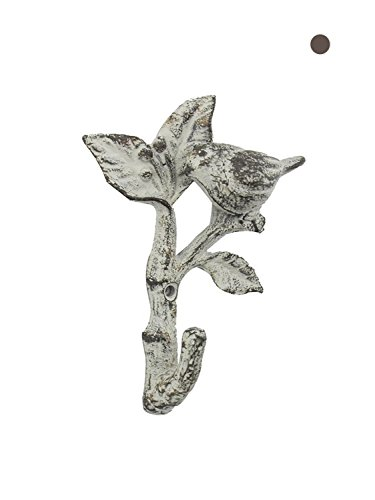"""Bird On A Branch Decorative Cast Iron Wall Hook 