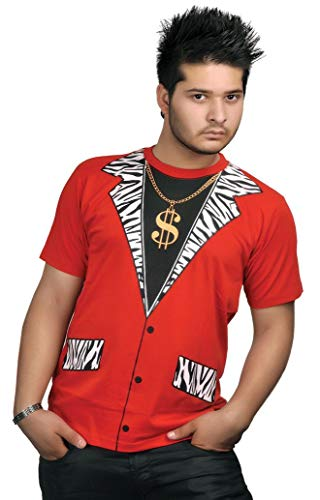 Mens Printed T Shirt Costume Party Casual Fancy