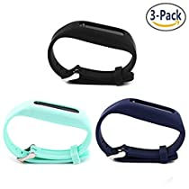 Austrake 3 Pack Silicon Replacement Wristbands Adjustable Colorful Fashionable Sport and Sleep Clasp Bands Wristband For Fitbit One
