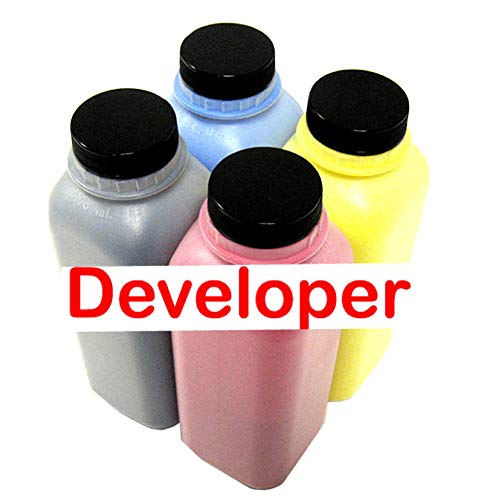AAA Toner Developer Refill kit for Sharp MX-60, MX60 (Repair, Maintenance) (200g x 4, Black, Cyan, Magenta, Yellow)