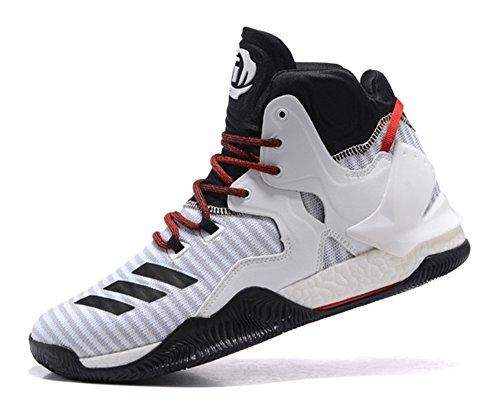 Men's Lightweight Basketball Shoes D Rose 7 Primeknit Basketball Shoes - Black/Grey/Red