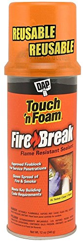 Dap 10012 12 Pack 12 oz. Touch 'n Foam FireBreak Flame Resistant Sealant, ()
