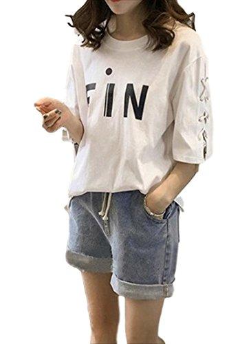暴行持参教(フムフム) fumu fumu レディースファッション Tシャツ 春 夏 トップス 5分袖