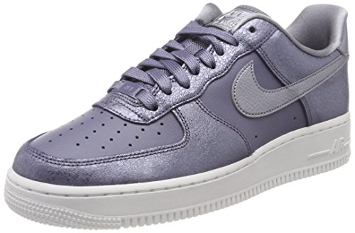 Nike Womens Air Force 1 '07 Premium Leather Low Top Lace Up, Grey, Size 7.5 (Nike Air Force 1 Low Premium)