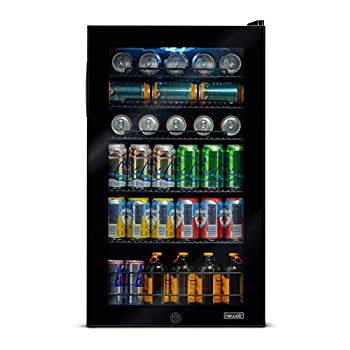 Image of Beverage Refrigerators NewAir AB-1200B 126-Can Freestanding Beverage Cooler, Black, 126 Can,
