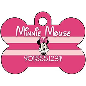 Amazon Com Disney Minnie Mouse Pet Id Tag For Dogs