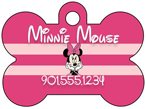 Disney Minnie Mouse Pet Id Tag for Dogs & Cats Personalized w  Name & Number