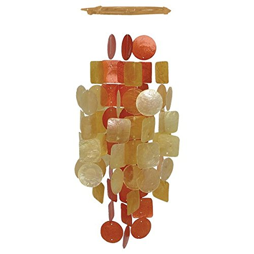 Honey and Rust Colored Capiz Shell Windchime W19