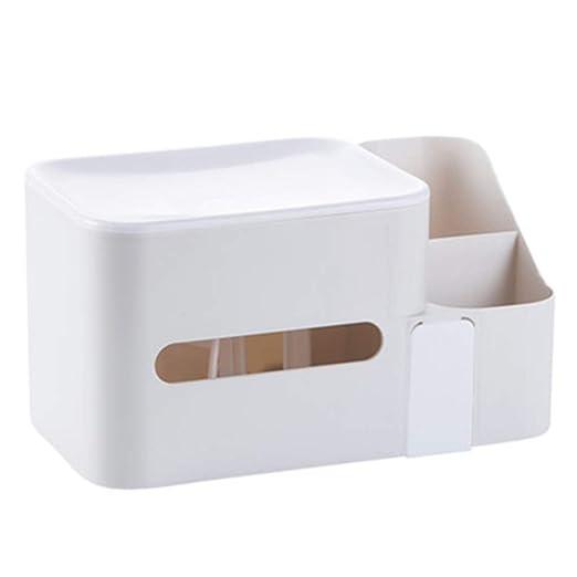 LYX Bandeja de Comida Caja De Tejido, Mesa De Centro De Plástico ...