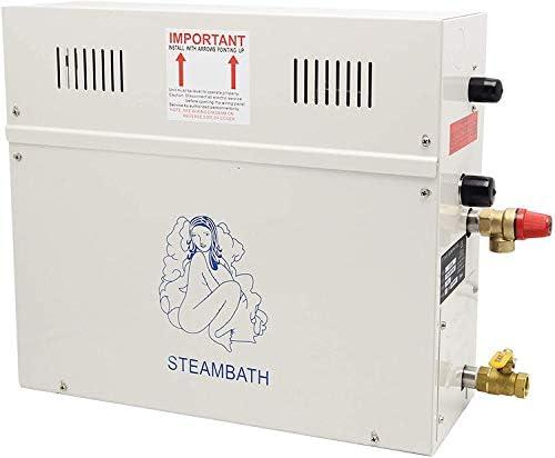 CGOLDENWALL 4.5KW Steam Generator Shower Sauna Bath Home Spa Steam Bath Generator