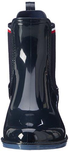 Tommy Hilfiger O1285dette 11r, Botas de Lluvia para Mujer Azul (Midnight)