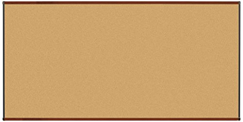 Best-Rite Origin Trim-Mahogany/Natural Cork Bulletin Board, 4 x 8 Feet (301OH-03) by Balt