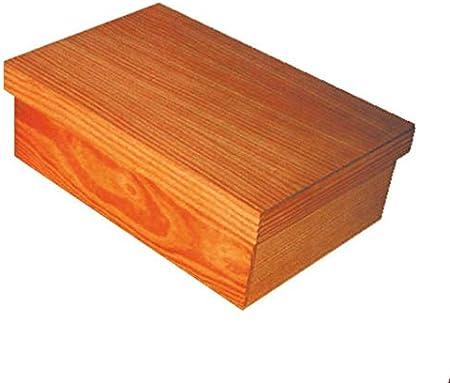 Caja madera grande. Medidas: 52 * 39 * 20 cms. Caja almacenaje en madera natural: Amazon.es: Hogar