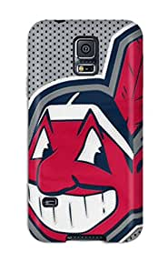 High Grade DanRobertse Flexible Tpu Case For Galaxy S5 - Cleveland Indians