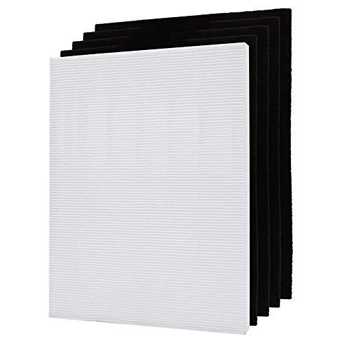 Eagles Winix 115115 Size 21 Replacement True Hepa Filter and 4 Carbon Pre-filters Set for Winix Plasma Wave Air Purifier 5300 5500 6300 9000 5000b WAC5300 WAC5500 WAC6300 WAC9500 -